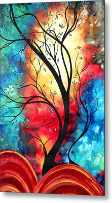 New Beginnings Original Art By Madart Metal Print by Megan Duncanson