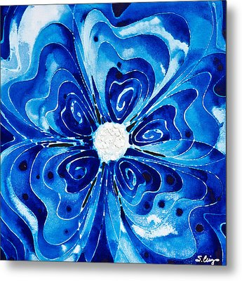 New Blue Glory Flower Art - Buy Prints Metal Print by Sharon Cummings