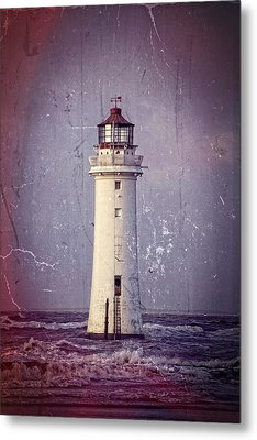 New Brighton Lighthouse Metal Print by Spikey Mouse Photography