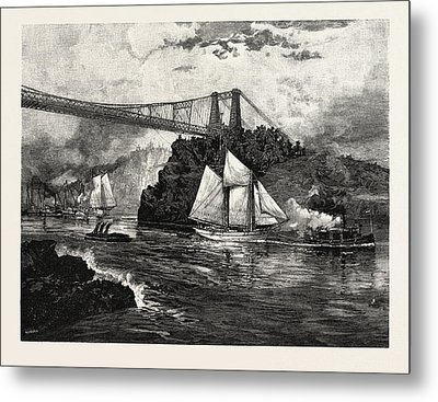 New Brunswick, Suspension Bridge Metal Print by Canadian School