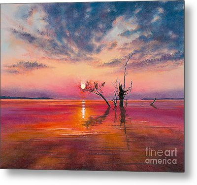 Metal Print featuring the painting New Dawn by Jeanette French