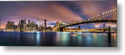 New Dawn Over New York Metal Print by Mihai Andritoiu