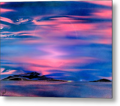Metal Print featuring the painting New Dawn by Yul Olaivar