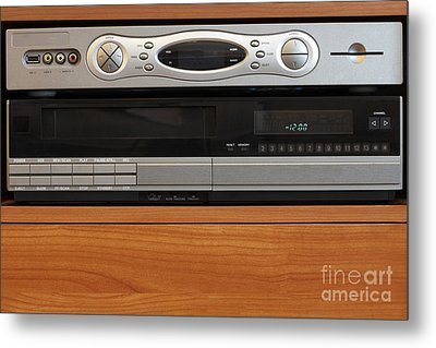 New Dvr With Old Vcr Metal Print by Lee Serenethos