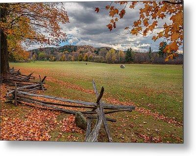 New England Autumn Field Metal Print by Bill Wakeley