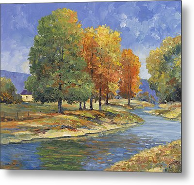 New England Autumn Metal Print