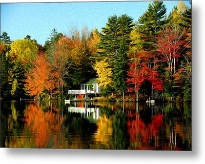 New England Metal Print