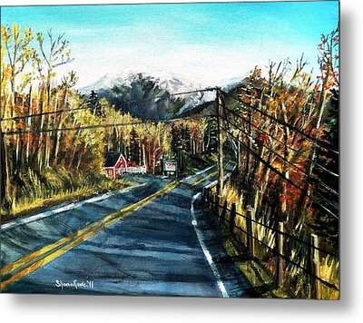 Metal Print featuring the painting New England Drive by Shana Rowe Jackson