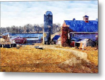 New England Farm 2 Metal Print by Rick Mosher