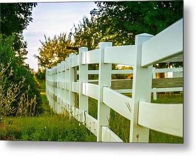 New England Fenceline Metal Print
