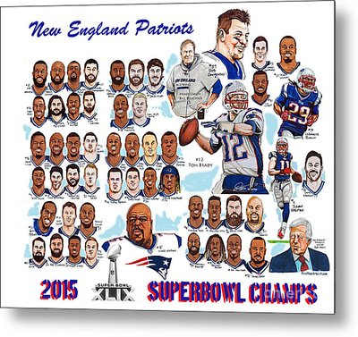 New England Patriots Superbowl Champions Metal Print