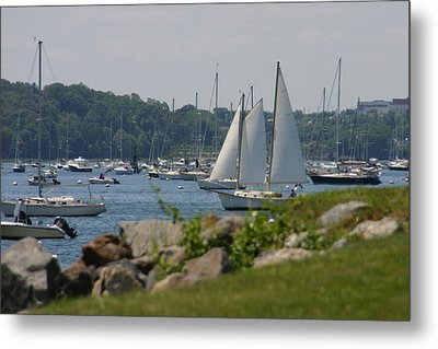 Metal Print featuring the photograph New England Seascape by Denyse Duhaime