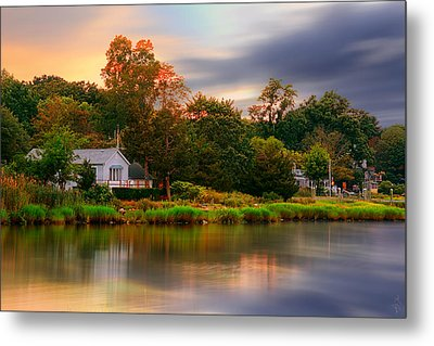 New England Setting Metal Print