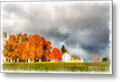 New England Village Metal Print