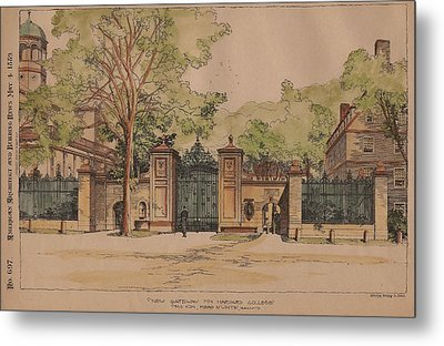 New Gateway For Harvard College Metal Print by McKim Mead and White Architects