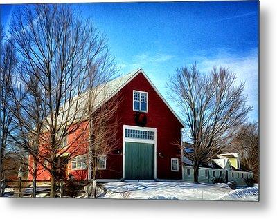 New Hampshire Farm Metal Print by Tricia Marchlik
