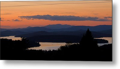New Hampshire Sunset Metal Print by Mim White