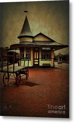 Metal Print featuring the photograph New Hope Ivyland Train Station by Debra Fedchin