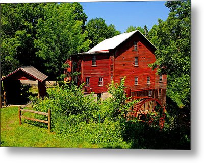 New Hope Mill Metal Print by Dave Files