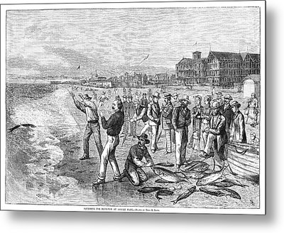 New Jersey Fishing, 1880 Metal Print by Granger