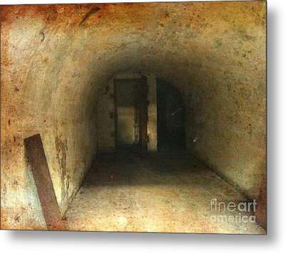 Metal Print featuring the photograph New Jersey Military Cave by Denise Tomasura