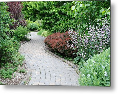 Metal Print featuring the photograph Frelinghuysen Arboretum Path by Richard Bryce and Family