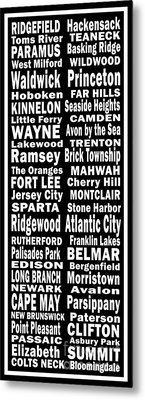 New Jersey Towns Canvas Art.com Metal Print
