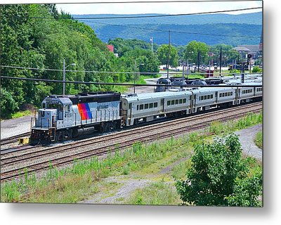 New Jersey Transit 4109 Metal Print by Steven Richman