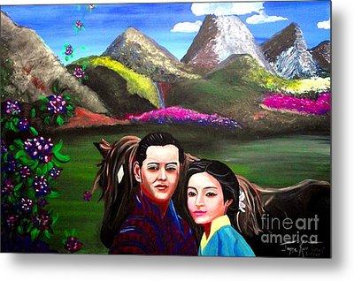 New King And Queen Of Bhutan Metal Print
