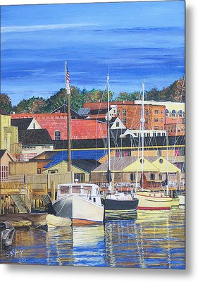 New London Marina Metal Print by Stuart B Yaeger