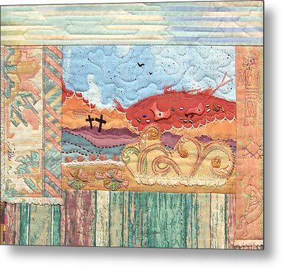 New Mexican Lanscape Metal Print by MtnWoman Silver