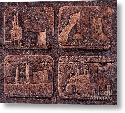 New Mexico Churches Metal Print by Ricardo Chavez-Mendez