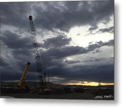 New Mexico Cloudy Sunrise Metal Print
