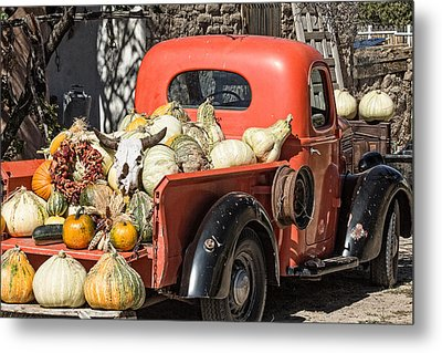 New Mexico Fall Harvest Truck Metal Print by Steven Bateson