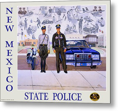 New Mexico State Police Poster Metal Print by Randy Follis