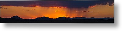 Metal Print featuring the photograph New Mexico Sunset by Atom Crawford