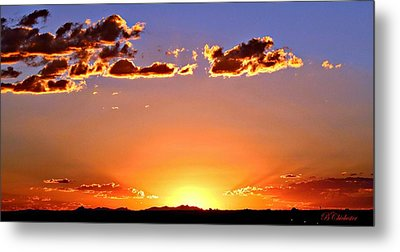 Metal Print featuring the photograph New Mexico Sunset Glow by Barbara Chichester