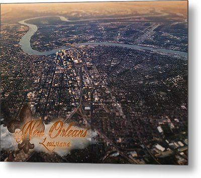 Metal Print featuring the photograph New Orleans Aerial View by Anthony Citro
