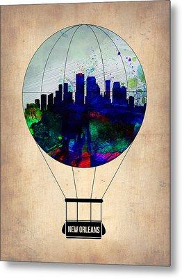 New Orleans Air Balloon Metal Print by Naxart Studio