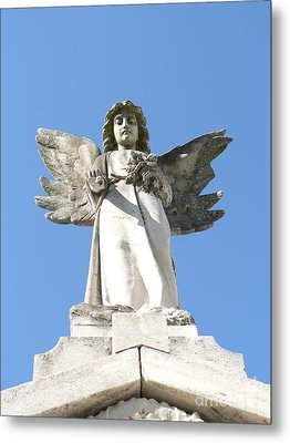 Metal Print featuring the photograph New Orleans Angel 5 by Elizabeth Fontaine-Barr