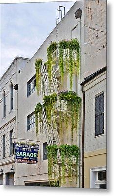 New Orleans Balcony Gardens Metal Print
