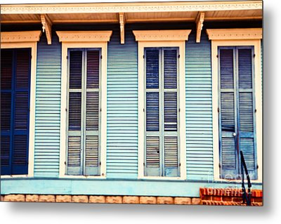 Metal Print featuring the photograph New Orleans Blue And Orange House by Sylvia Cook
