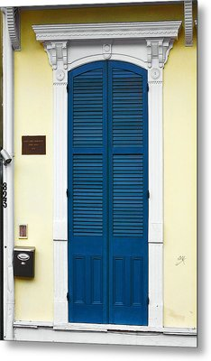 New Orleans Blue Door Metal Print by Christine Till