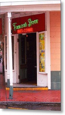 New Orleans - Bourbon Street 6 Metal Print by Frank Romeo