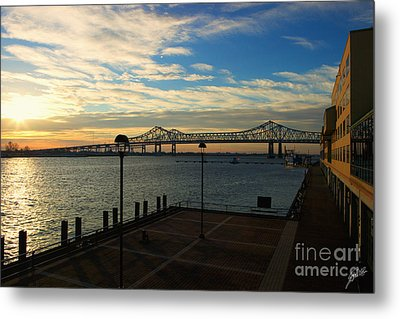 Metal Print featuring the photograph New Orleans Bridge by Erika Weber