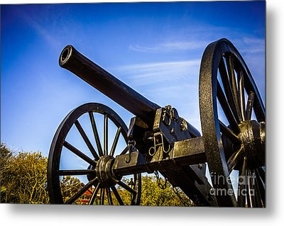 New Orleans Cannon At Washington Artillery Park Metal Print