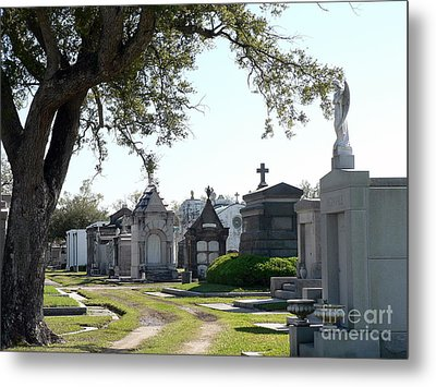 Metal Print featuring the photograph New Orleans Cemetery 3 by Elizabeth Fontaine-Barr