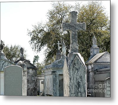 Metal Print featuring the photograph New Orleans Cemetery 4 by Elizabeth Fontaine-Barr