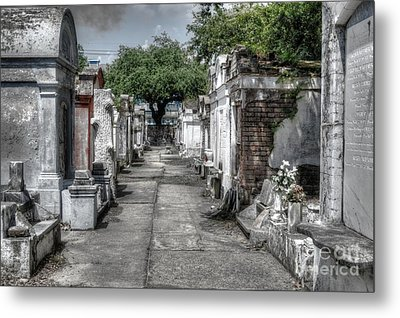 New Orleans Cemetery Metal Print by Timothy Lowry