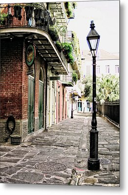 Metal Print featuring the photograph New Orleans Cobblestone by Heather Green